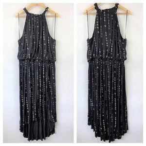 Apt 9 Boho High Neck Stretchy Maxi Dress Black 2X